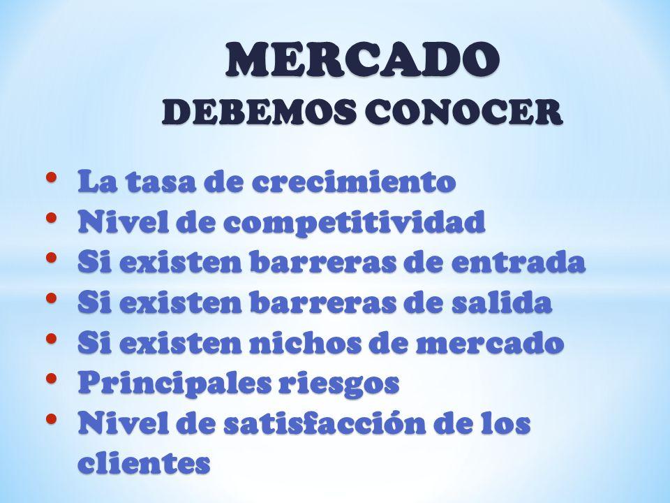 MERCADO DEBEMOS CONOCER