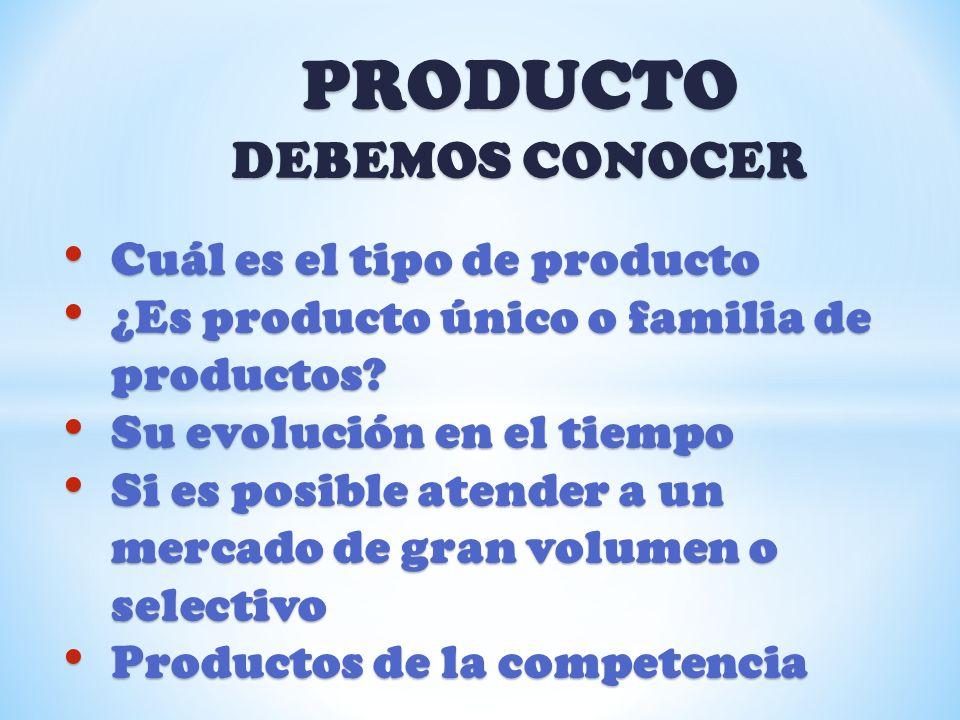 PRODUCTO DEBEMOS CONOCER