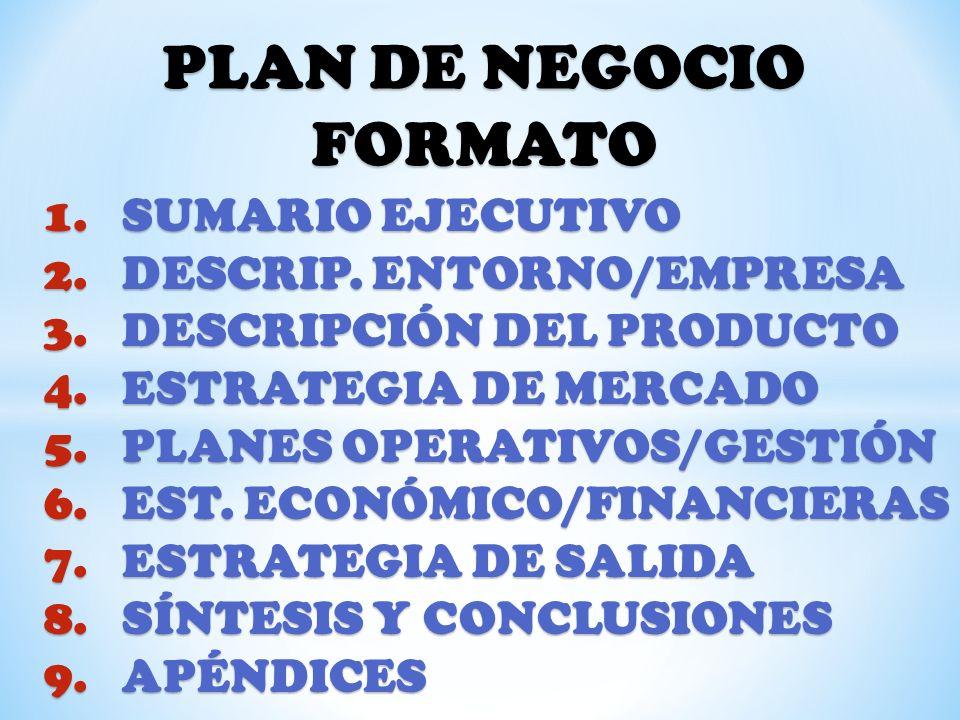PLAN DE NEGOCIO FORMATO