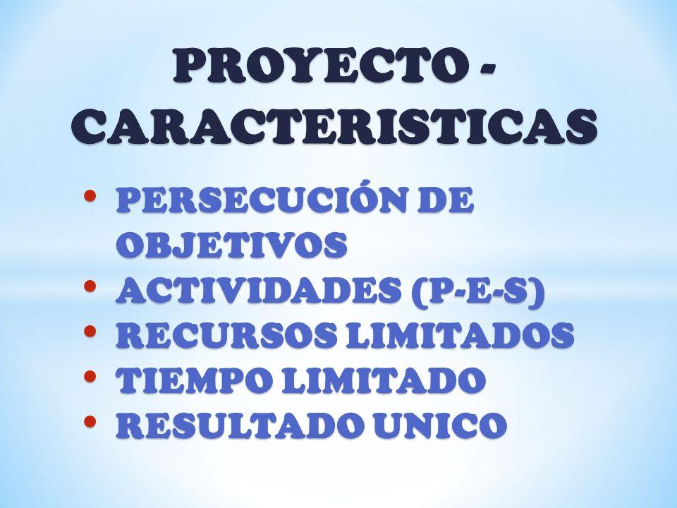 PROYECTO - CARACTERISTICAS