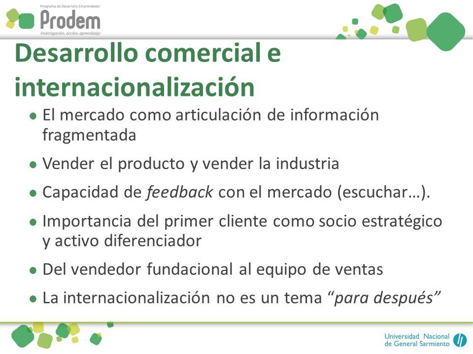 Desarrollo comercial e internacionalización