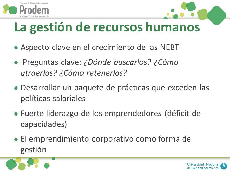 La gestión de recursos humanos