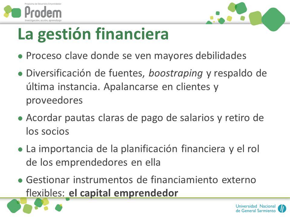 La gestión financiera Proceso clave donde se ven mayores debilidades