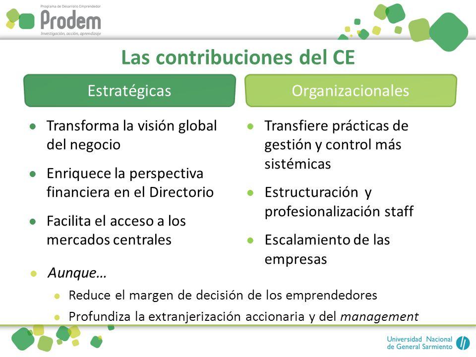 Las contribuciones del CE