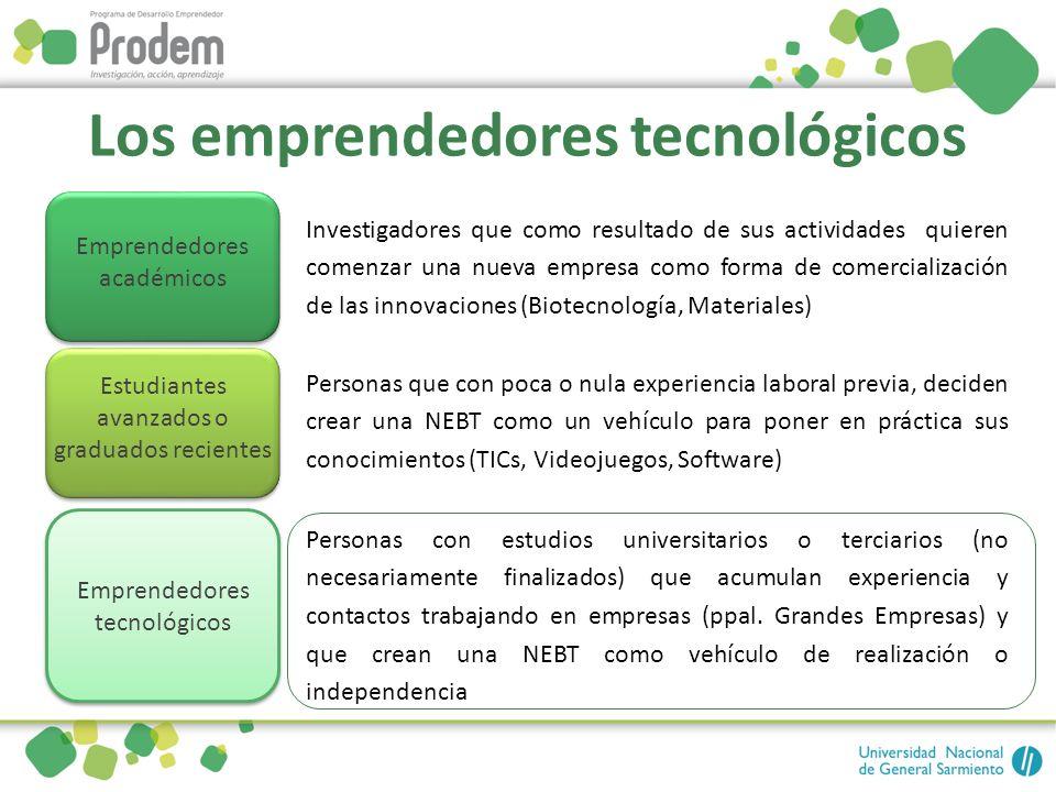 Los emprendedores tecnológicos