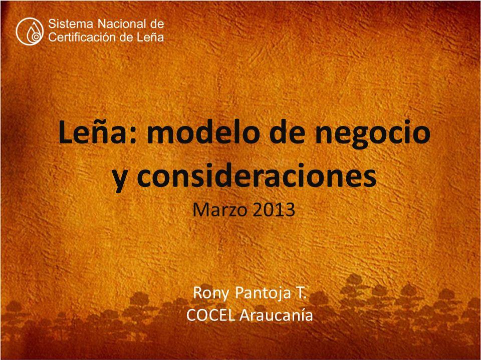 Leña: modelo de negocio y consideraciones Marzo 2013