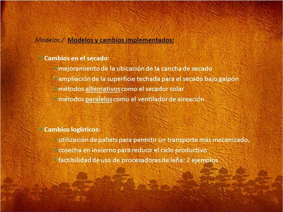Modelos / Modelos y cambios implementados:
