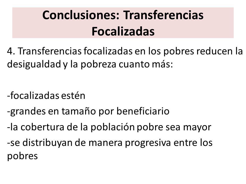 Conclusiones: Transferencias Focalizadas