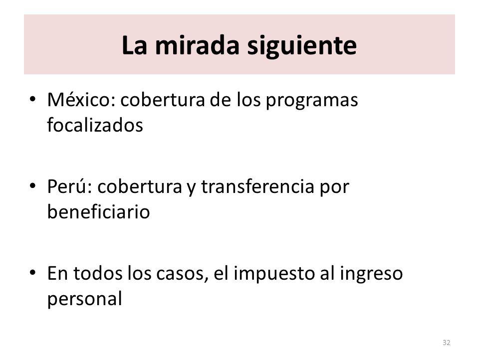 La mirada siguiente México: cobertura de los programas focalizados
