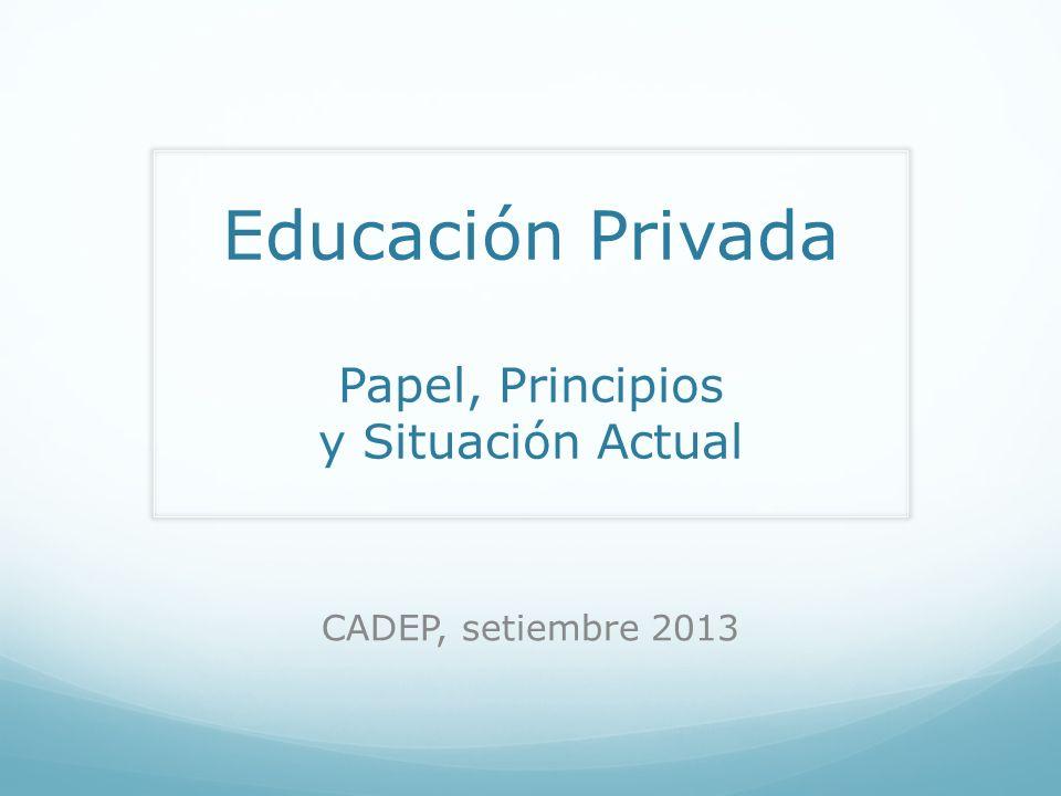 Educación Privada Papel, Principios y Situación Actual