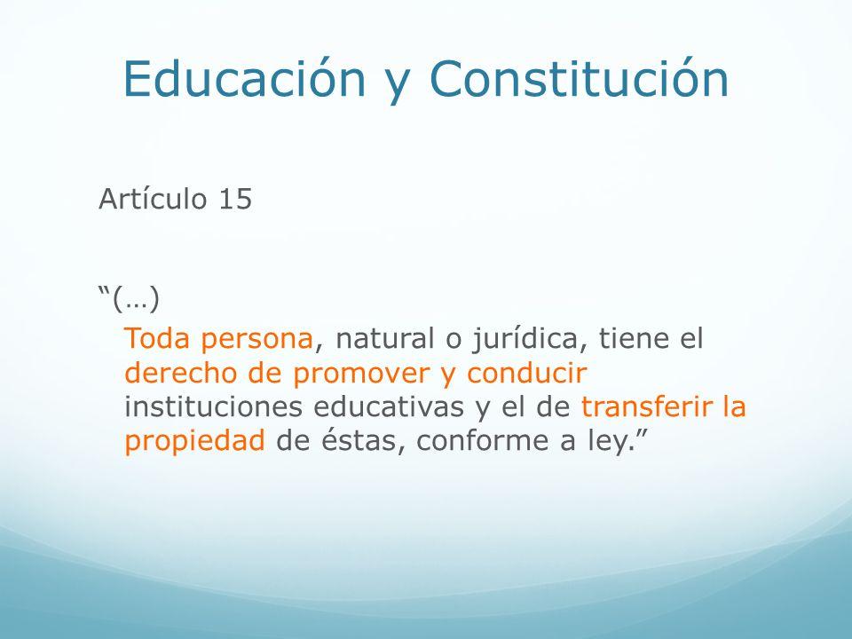 Educación y Constitución