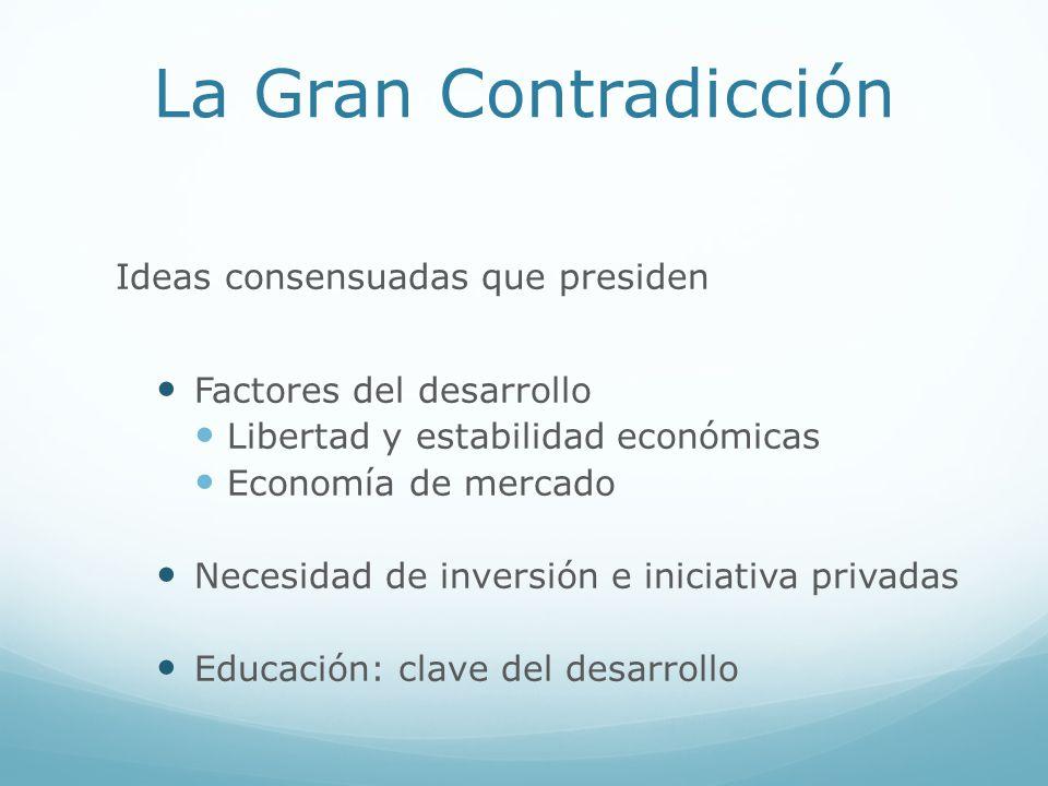 La Gran Contradicción Ideas consensuadas que presiden