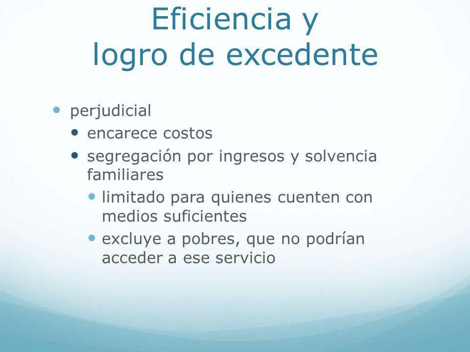 Eficiencia y logro de excedente