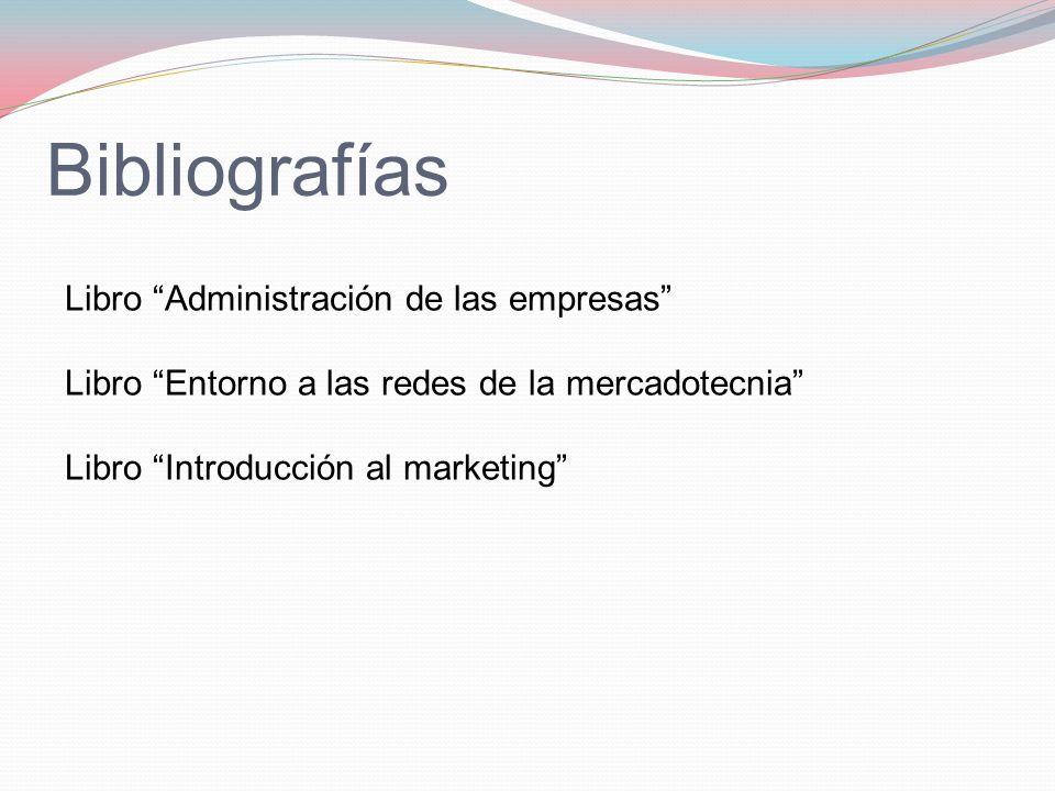 Bibliografías Libro Administración de las empresas