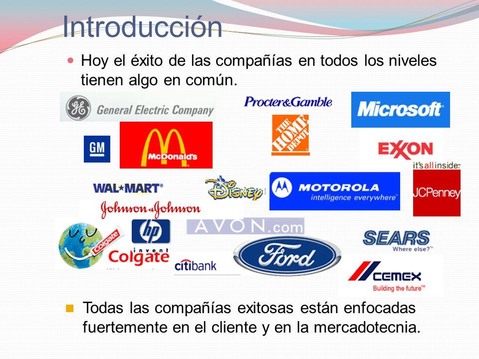 Introducción Hoy el éxito de las compañías en todos los niveles tienen algo en común.