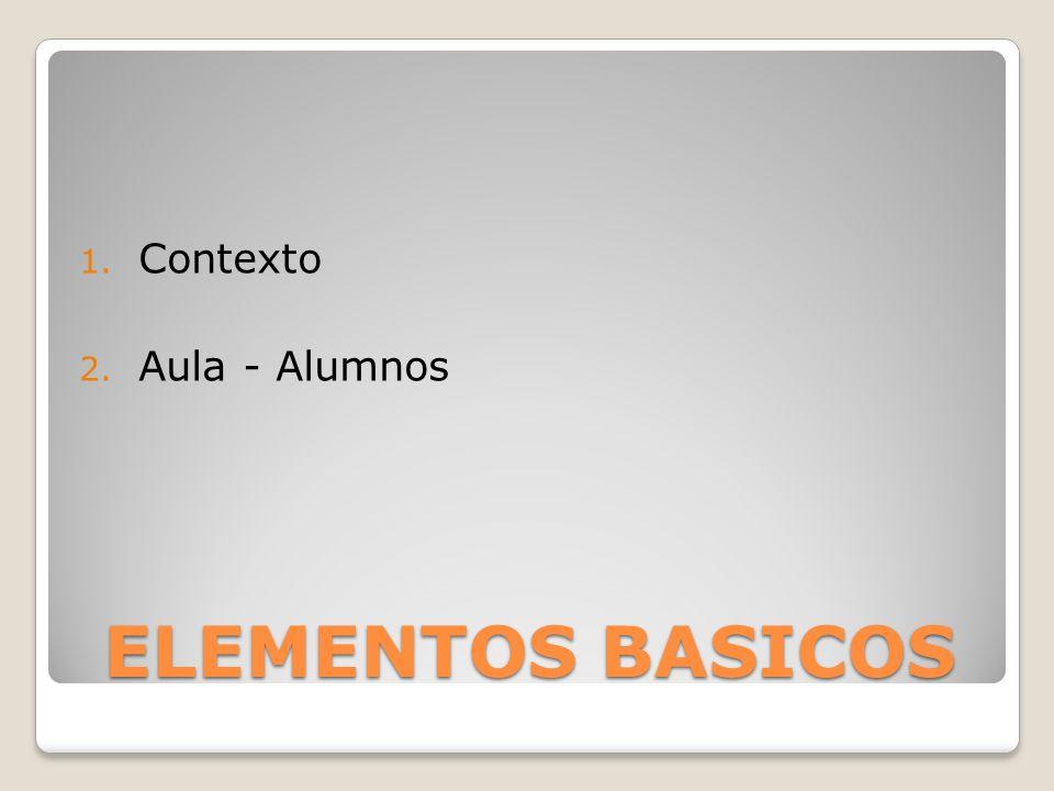 Contexto Aula - Alumnos ELEMENTOS BASICOS