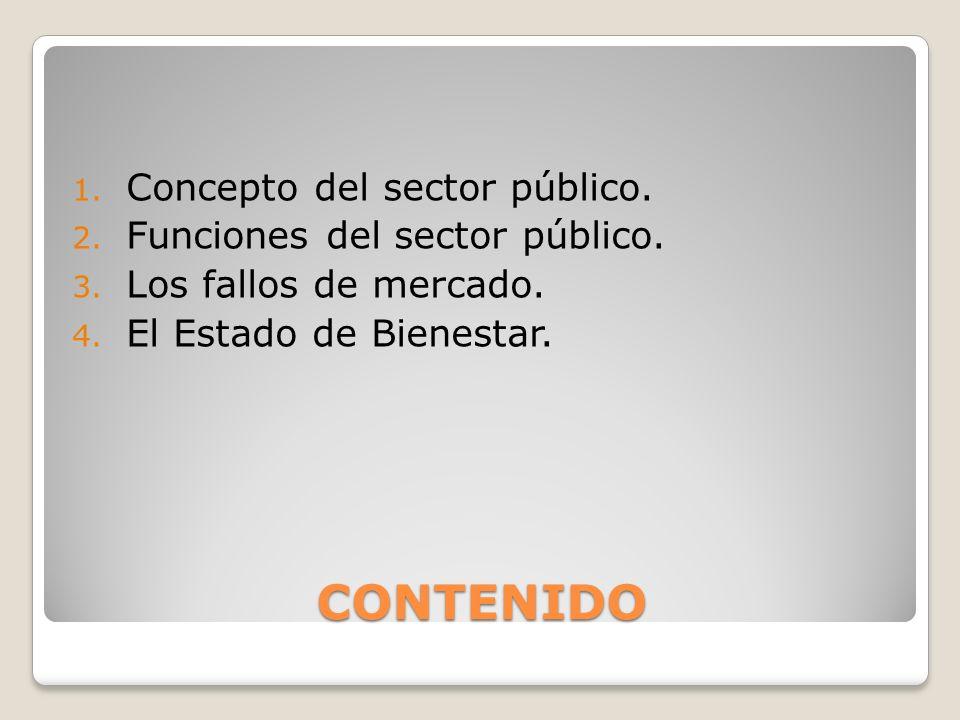 CONTENIDO Concepto del sector público. Funciones del sector público.