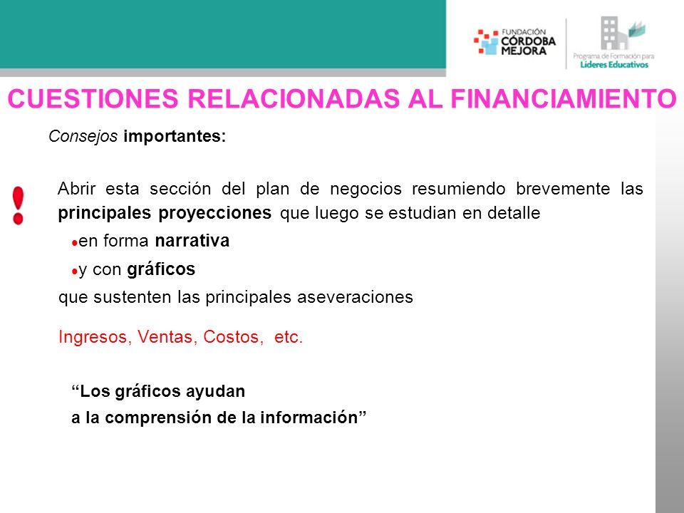 CUESTIONES RELACIONADAS AL FINANCIAMIENTO
