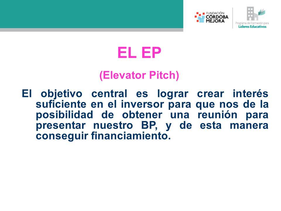 EL EP (Elevator Pitch)