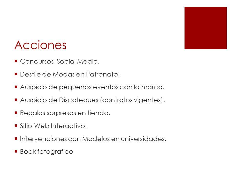 Acciones Concursos Social Media. Desfile de Modas en Patronato.