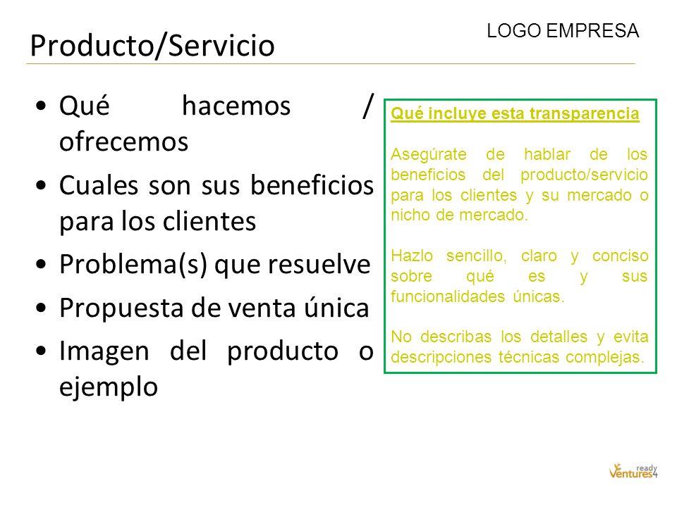 Producto/Servicio Qué hacemos / ofrecemos
