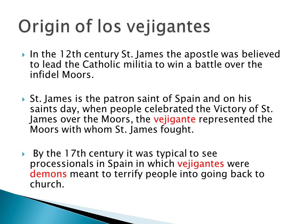 Origin of los vejigantes