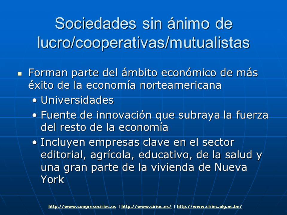 Sociedades sin ánimo de lucro/cooperativas/mutualistas