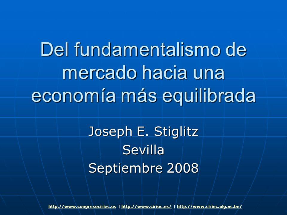 Del fundamentalismo de mercado hacia una economía más equilibrada