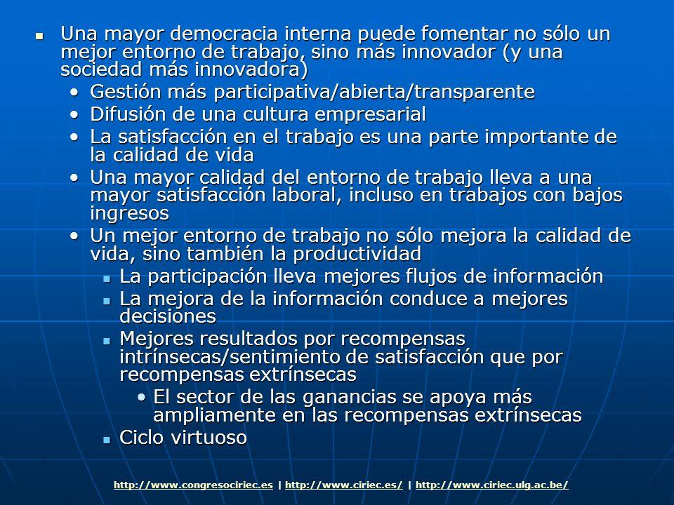 Gestión más participativa/abierta/transparente