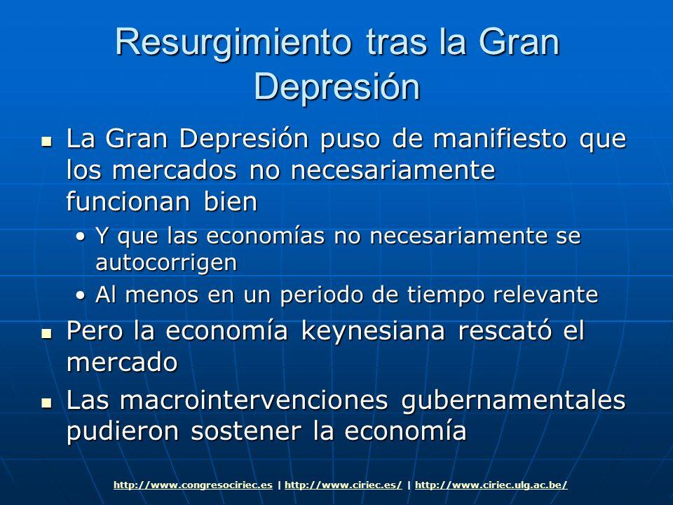 Resurgimiento tras la Gran Depresión