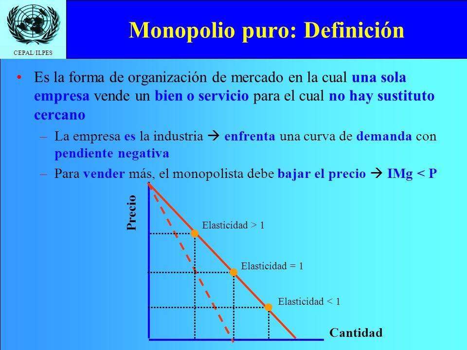 Monopolio puro: Definición