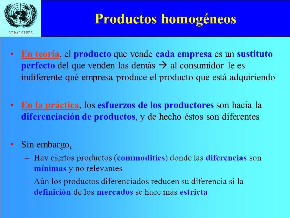 Productos homogéneos