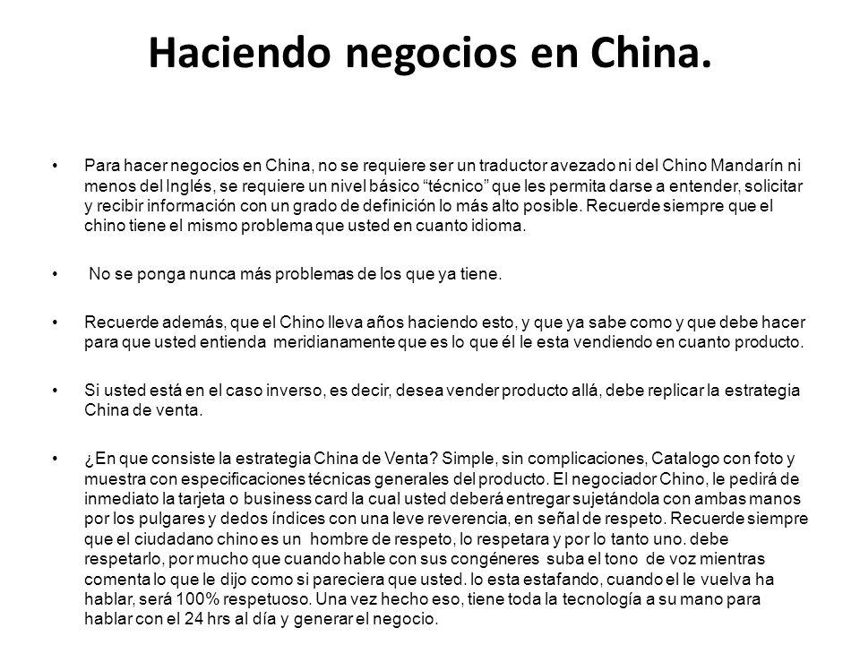 Haciendo negocios en China.
