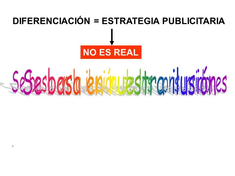 DIFERENCIACIÓN = ESTRATEGIA PUBLICITARIA