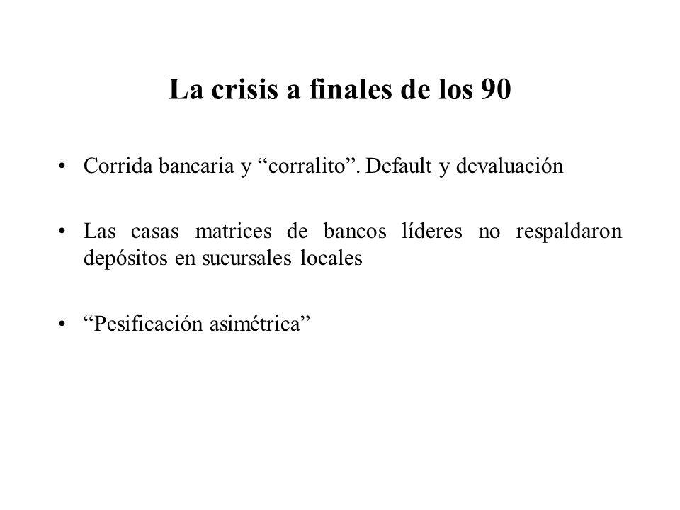 La crisis a finales de los 90
