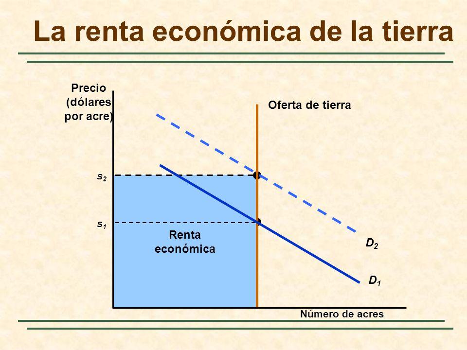 La renta económica de la tierra