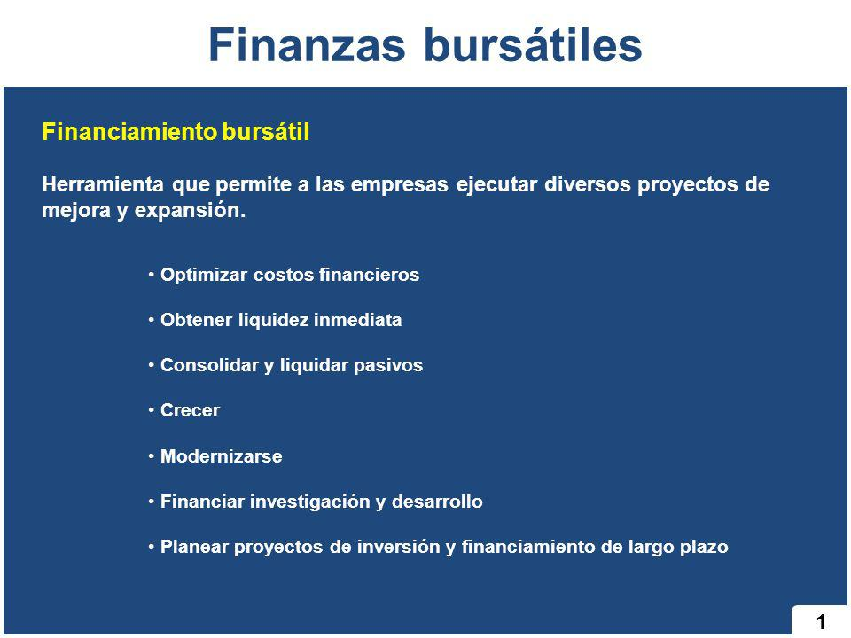 Finanzas bursátiles Financiamiento bursátil