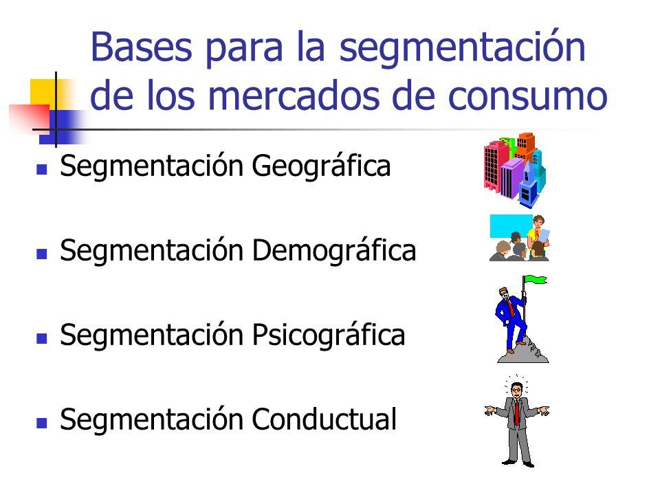 Bases para la segmentación de los mercados de consumo