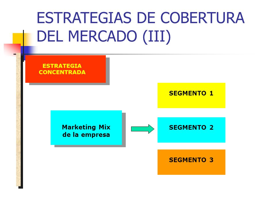 ESTRATEGIA CONCENTRADA Marketing Mix de la empresa