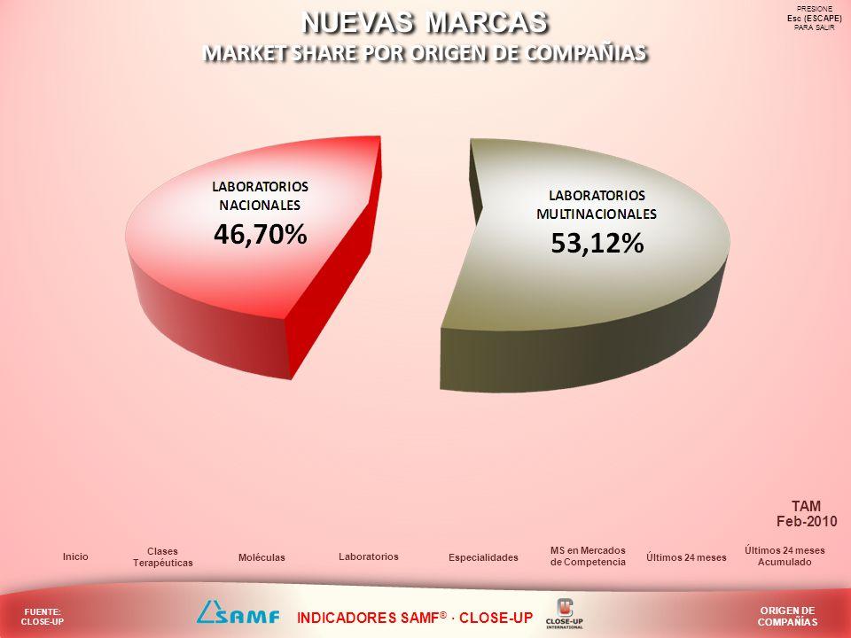 MARKET SHARE POR ORIGEN DE COMPAÑIAS