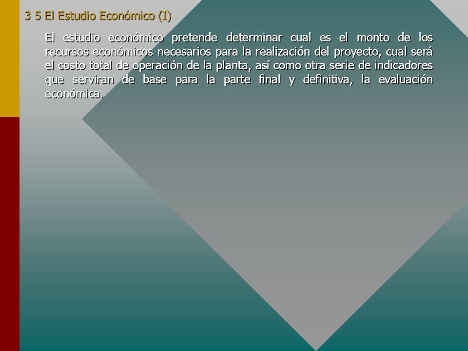 3 5 El Estudio Económico (I)