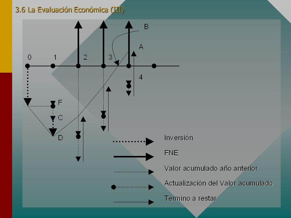 3.6 La Evaluación Económica (III)