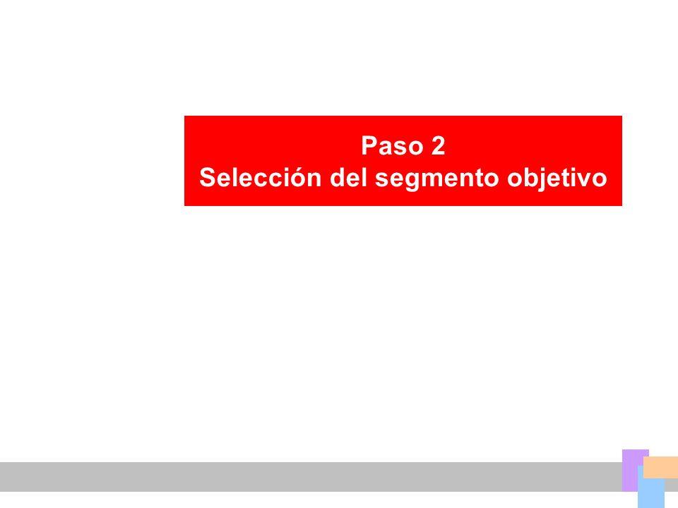 Selección del segmento objetivo