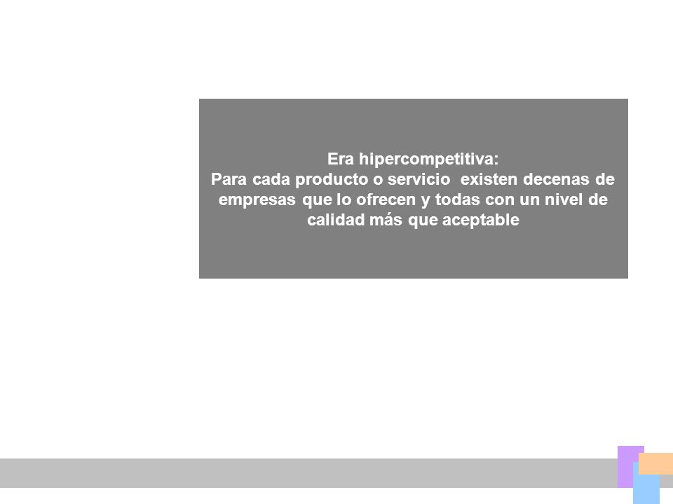 Era hipercompetitiva: