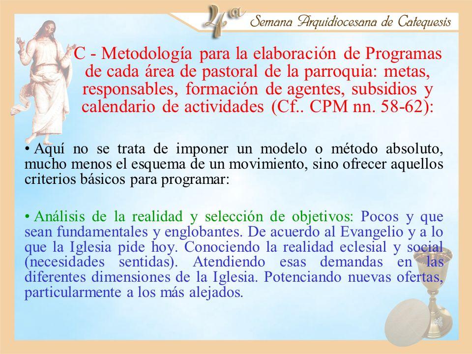 C - Metodología para la elaboración de Programas