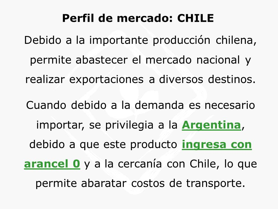 Perfil de mercado: CHILE