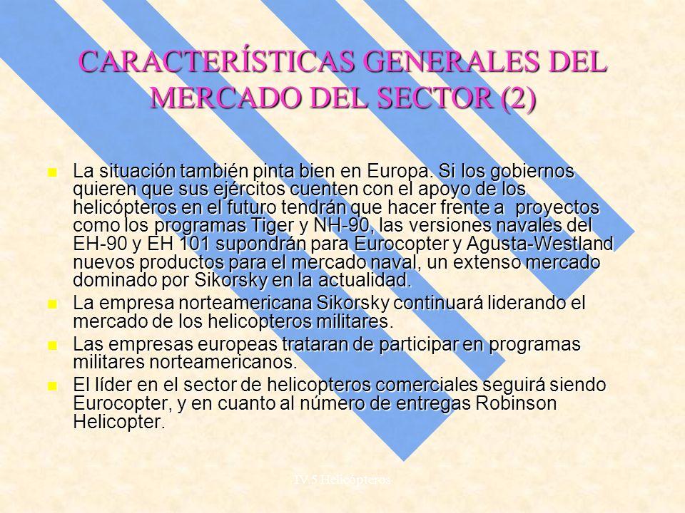 CARACTERÍSTICAS GENERALES DEL MERCADO DEL SECTOR (2)