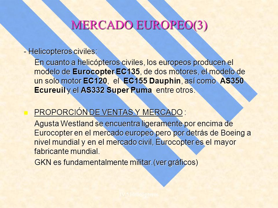 MERCADO EUROPEO(3) - Helicopteros civiles: