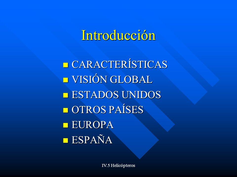 Introducción CARACTERÍSTICAS VISIÓN GLOBAL ESTADOS UNIDOS OTROS PAÍSES