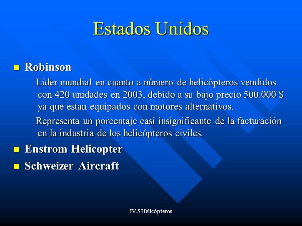 Estados Unidos Robinson Enstrom Helicopter Schweizer Aircraft
